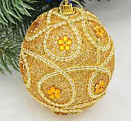 рождественские украшения 8 см роскошных блестки высокого класса платье украшают новогодние шары новогодние елки, чтобы повесить случайный