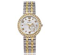 Mulheres Relógio Elegante Relógio de Moda Relógio de Pulso Quartzo / Lega Banda Legal Casual Elegantes Prata DouradaDourado Prata Ouro