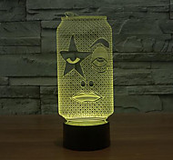 Bottle Touch Dimming 3D LED Night Light 7Colorful Decoration Atmosphere Lamp Novelty Lighting Christmas Light