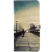 For iPhone 7 Case / iPhone 6 Case / iPhone 5 Case Wallet / Card Holder / with Stand / Flip / Pattern Case Full Body Case City View HardPU