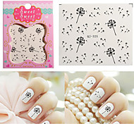 Fashion Beauty Dandelion Nail Art Nail Stickers Nail Decals Tags