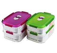 recipientes de recipientes para alimentos de armazenamento de alimentos com divisor (1.15l1.15l) * 2p