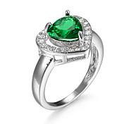 Hot Fashion Luxury Vintage  Sapphire Zircon CZ Diamond Love Rings For Women Wedding Jewelry bague