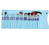 23 Makeup Brushes Set Goat Hair Portable Wood Face G.R.C