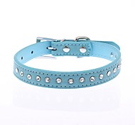Cat / Dog Collar Reflective / Adjustable/Retractable / Cosplay / Running / Hands free / Casual Polka Dots / RhinestoneRed / Black / Blue