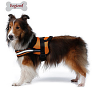 Dog Harness Reflective / Breathable Solid Red / Black / Orange Nylon / Mesh