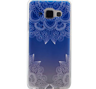 For Samsung Galaxy A5(2016) A3(2016) Case Cover Lace Flowers Pattern Painting Super Soft TPU Material