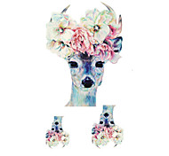 Christmas Deer Head Tattoo Paste Environmental Protection Fashion Safe Non-toxic Waterproof 1Pcs