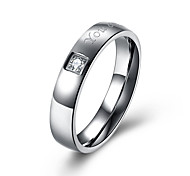 Top Quality Lose Money Sale Cubic Zirconia Stainless Steel Woman Ring Romantic Wedding Ring US size 6 7 8 9