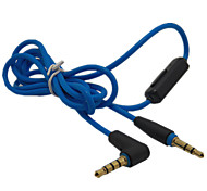 4FT 3.5mm Stereo Jack Audio Cable with Microphone MIC for Headphone HTC Samsung