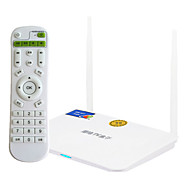 QIANFENG Android 4.4 Smart TV Box 8G ROM Quad Core with Remote Control White