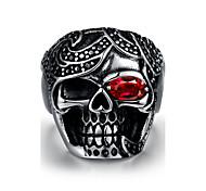 Quality titanium High steel rings jewelry birthday present street fashion skull Men 316L steel ring