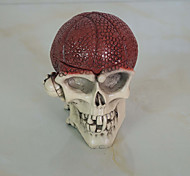 1PC Halloween  Props  Dancing Party Ornaments Skeleton Head Ashtray Ornaments