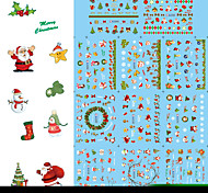 BLE2094-2104 Minion Nail Stickers Christmas Water Transfer Nail Sticker Women Decoration on Nail Art Stickers