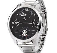 Masculino Relógio Esportivo / Relógio Militar / Relógio Elegante / Relógio de Moda / Relógio de Pulso Quartzo JaponêsTrês Fusos Horários