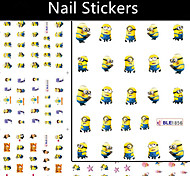 11pcs/lot Small Yellow People Watermark Nail Stickers
