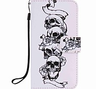 For Samsung Galaxy J7 J5 (2016) J3 (2016) J1 (2016) Case Cover Skull Painting PU Phone Case J5 J3 G360 G530