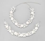 Schmuck Halsketten / Haarschmuck Braut-Schmuck-Sets Kristall / Imitierte Perlen Quaste Hochzeit 1 Set Damen Weiß Hochzeitsgeschenke