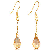 Fashion Crystal 316L Stainless Steel Drop Earring