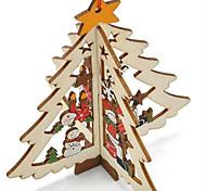 Carved Wooden Pendant Christmas Tree Window  Pattern Is Random