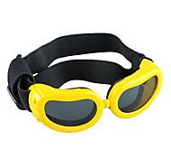 Yellow Pet Puppy Dog Eye UV Protection Goggles Sunglasses Eyewear S