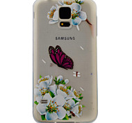 For Samsung Galaxy S7 S6 Case Cover White Butterfly Pattern Painting Super Soft TPU Material