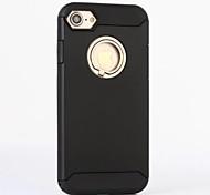 Für iPhone 7 Hülle / iPhone 7 Plus Hülle / iPhone 6 Hülle mit Halterung Hülle Rückseitenabdeckung Hülle Einheitliche Farbe Hart Silikon