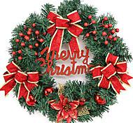 венок рождества 2 цвета хвои рождественские украшения для домашнего диаметра партия 40см NAVIDAD новые поставки год