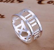 Ringe Alltag / Normal Schmuck Aleación Damen Ring 1 Stück,8 Silber