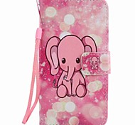 For Samsung Galaxy A5 (2016) A3 (2016) Case Cover Pink Elephant Painting PU Phone Case