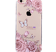 For iPhone 7 Case / iPhone 7 Plus Case / iPhone 6 Case Ultra-thin / Pattern Case Back Cover Case Butterfly Hard Acrylic AppleiPhone 7