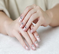 24 Pieces of Gum a Diamond Decoration False Nail Patch Manicure Finished