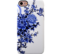 For iPhone 7 Case / iPhone 7 Plus Case / iPhone 6 Case Shockproof / IMD Case Back Cover Case Flower Soft TPU AppleiPhone 7 Plus / iPhone