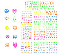 11pcs Nail Art Sticker  Water Transfer Decals Makeup Cosmetic Nail Art Design