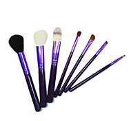 7 Makeup Brushes Set Nylon Portable Wood Face G.R.C