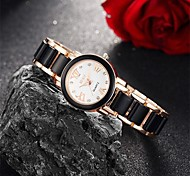 Women's Fashion Watch / Wrist watch Quartz Water Resistant/Water Proof Alloy Band Charm / Casual Black / White Brand