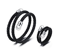 Men's Jewelry Set Jewelry Casual/Halloween/Daily/Party Fashion Stainless Steel Pearl Black 1 Set Gift