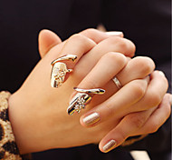 Fashion Temperament Thumb-nail Ring Gold Nnd Silver Two Color Suits  2Pcs/Set