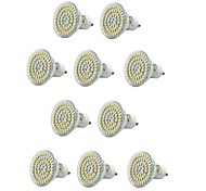 10PCS E14/GU10/E27 60SMD 3528 550-600LM AC220V Warm White/White Decorative/Waterproof  LED Spotlight