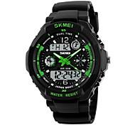 SKMEI Мужской Спортивные часы Армейские часы Наручные часы LED LCD Календарь Защита от влаги С двумя часовыми поясами тревога Хронометр