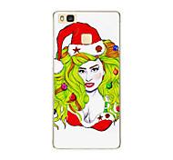 For Huawei P9 P9 lite P8 P8 lite Christmas girl TPU Soft Case Cover