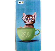 For HUAWEI P9 P8Lite Y5C Y6 Y625 Y635 5X 4X G8 Case Cover Cat Pattern TPU Material Phone Shell