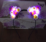 Light Up Led Cat Ear Emitting Headband Led Light Garland Halloween Christmas Holiday Items Daisy Headband Gift Idea