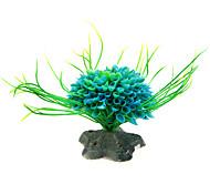 Aquarium Decoration Ornament Plastic Blue