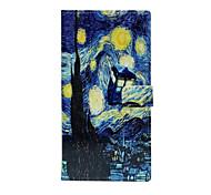 For iPhone 7 Case / iPhone 6 Case / iPhone 5 Case Wallet / Card Holder / with Stand / Flip / Pattern Case Full Body Case City View HardPU