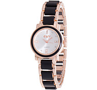 Fashion Casual Leisure Wristwatch For Women Ladies Rhinestone Dial Of Quartz Watches And Alloy Rose Golden Band