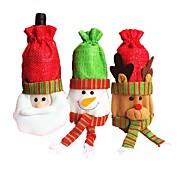 bottiglia di vino bottiglia di vino bottiglia di vino vino rosso vino rosso vino rosso 3pcs di natale decorazioni natalizie (stile