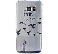 Für samsung galaxy s5 s6 vogelmuster tpu material sehr transparenter telefonkasten für samsung galaxy s5 s6 s7 s7 rand
