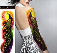 1Pcs New Big Size Waterproof Full Arm Tattoo Sticker fake Sleeves Body Art Temporary Tattoos Shoulder Peacock