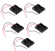 5PCS AAA With Four Red And Black Line Without Cover Battery Box